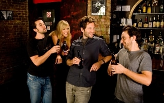 Kaitlin Olson, Charlie Day, Rob McElhenney and Glenn Howerton